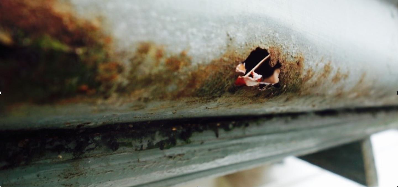 damaged gutters